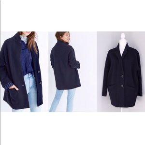Madewell Navy Merino Wool Blazer Jacket SZ S